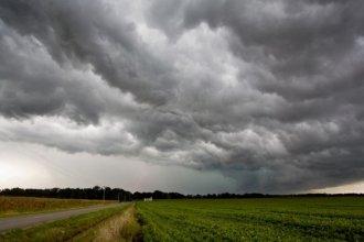 Rige un alerta a corto plazo por granizo y tormentas para una zona de Entre Ríos