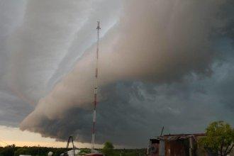 Anuncian alerta por tormentas fuertes para una parte de Entre Ríos