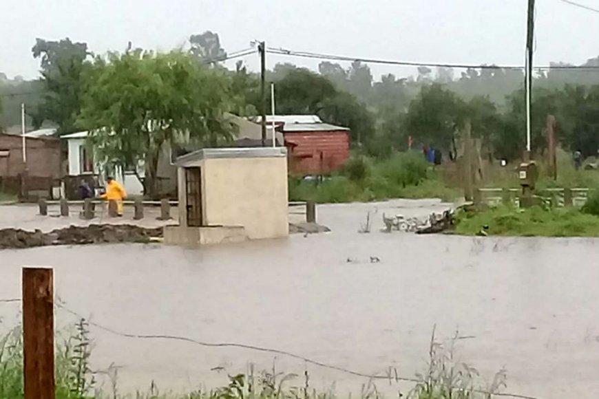 Así se inundó en enero el flamante barrio.