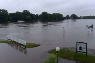 El río volvió a crecer en Gualeguaychú y descartan un posible retorno de evacuados a sus casas