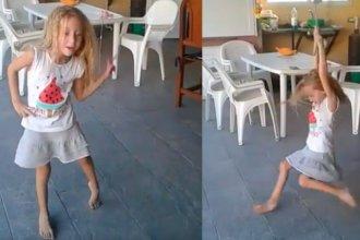 """""""Donde hay fe suceden milagros"""": Joaquina baila en su casa, dos meses después del grave accidente"""