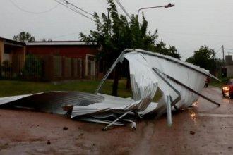 Fuerte temporal provocó caída de techos y postes en la Histórica