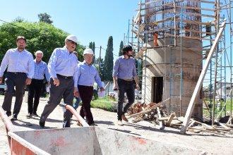 Benedetto visitó a Lauritto para recorrer las obras que se desarrollan en la Histórica