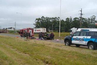Choque frontal en Ruta 14: la Policía identificó a los muertos y confirmó que hay 2 heridos graves
