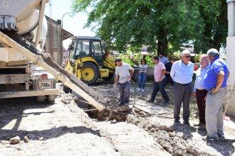 Tras la inundación, construyen la barrera impermeable en la Defensa Este para evitar filtraciones