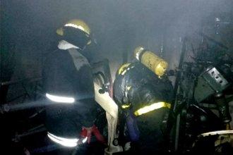 Su casa ardió en llamas y él debió ser internado tras sufrir quemaduras
