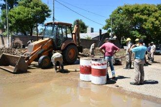 Repararon el caño roto y de a poco se restablece el servicio de agua potable
