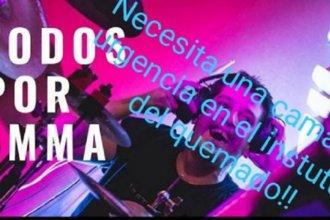 Firmas por Emma: necesita con urgencia su trasladado al instituto del quemado