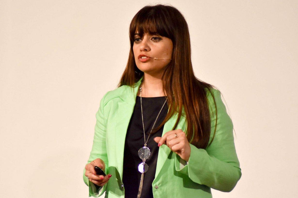 Valeria Viva fue la cuarta oradora del evento TEDx