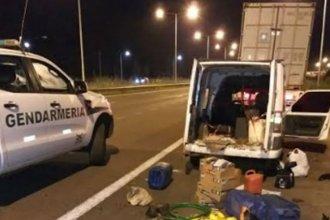 Desbarataron el robo de mercadería a camiones estacionados a la vera de la autovía
