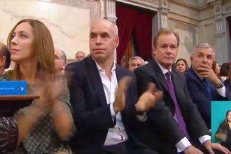 Con Bordet al lado de Vidal y Larreta, Macri inauguró las sesiones ordinarias en pleno año electoral
