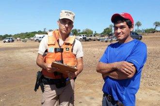 Efectivos de Prefectura rescataron a un hombre que se ahogaba en el río Uruguay