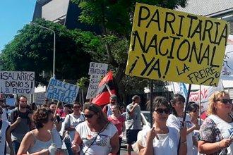 Según los datos de Agmer, en la capital entrerriana el acatamiento al paro alcanzó el 95%