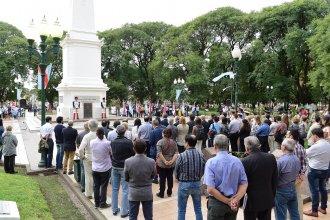 En la plaza que lo recuerda, la Histórica homenajeó al General Francisco Ramírez