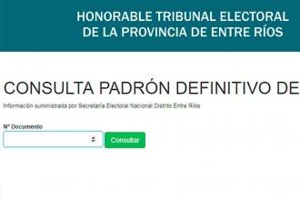 De cara a las PASO, accedé al padrón definitivo para saber dónde votar