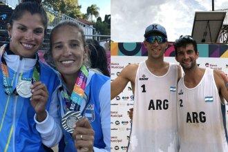 Con la de plata colgada al cuello, dos entrerrianos cerraron su actuación en los Suramericanos de Playa