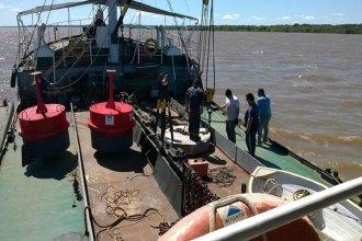 Hay malestar en Concepción del Uruguay porque la Armada Argentina realiza el balizamiento del río Uruguay