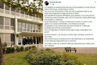"""El descargo de la mamá de Gisela López: """"Los jueces defendieron a los asesinos"""""""