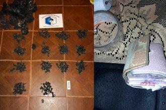 Secuestraron más de 200 envoltorios de marihuana en barrio de Concordia