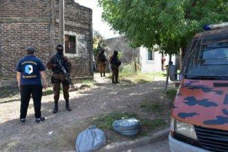 Ocho detenidos y droga secuestrada, tras allanamientos por narcotráfico