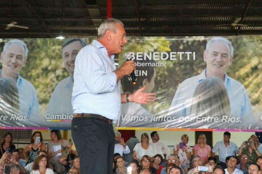 Benedetti cuando lanzó su candidatura.