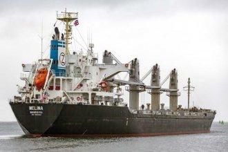 """Melina"" llega a la costa del Uruguay para cargar 22 mil toneladas de arroz a granel"