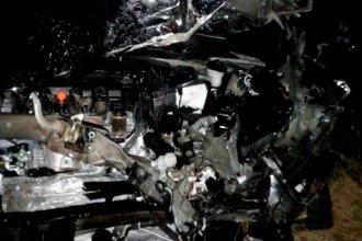 Padre, madre e hijo perdieron la vida en un violento choque en ruta entrerriana