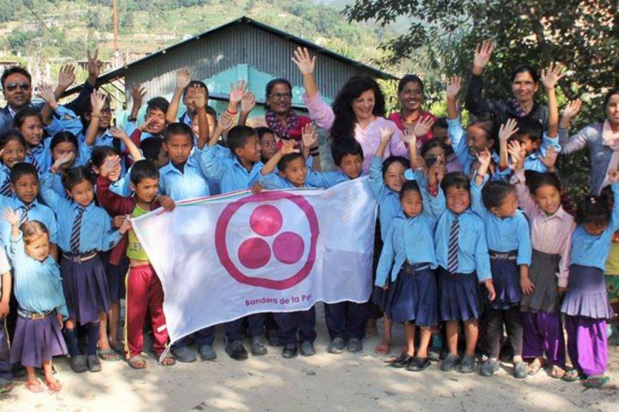 Mil Milenios de Paz en una escuela de Nepal.