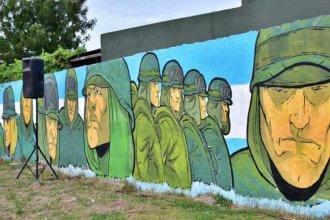 Los ex combatientes de Malvinas, ahora plasmados en un mural de Concordia