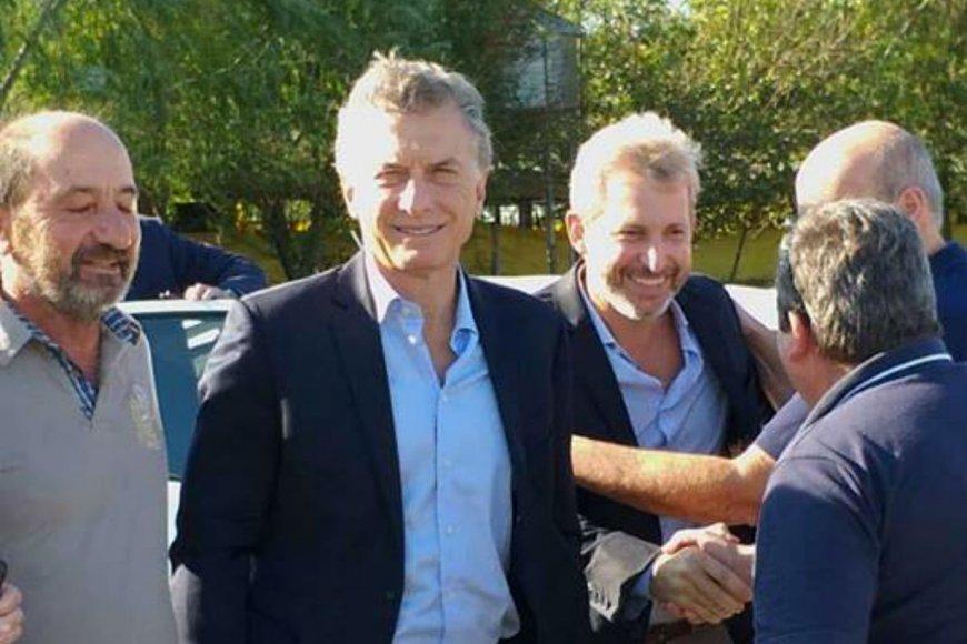 Presidente y ministro, esta mañana en Gualeguay.