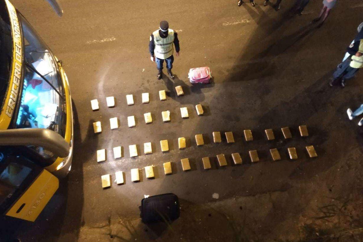 El cargamento que detectó la Policía.