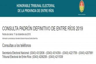 Padrón electoral: Está caído el sitio en internet para averiguar dónde se vota