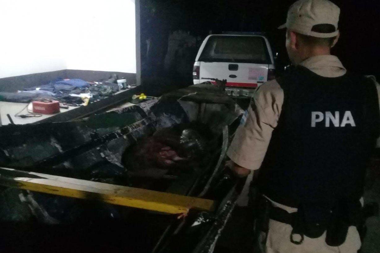 Los elementos secuestrados por PNA en Concepción.