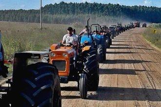 Los tractores vuelven a movilizarse en el norte entrerriano