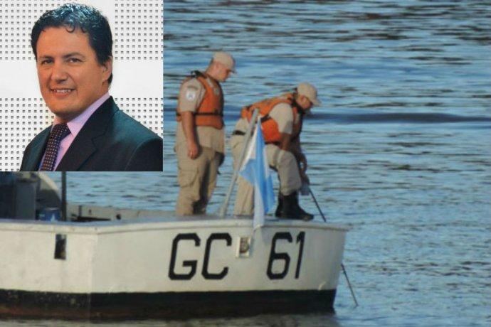Confirmaron que el hombre que cayó al río es un conocido periodista entrerriano