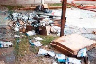 Incendio en Acción Social quemó cajas de leche en polvo y colchones
