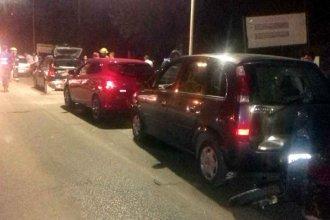 Un auto frenó en la ruta y otros cinco vehículos chocaron en cadena