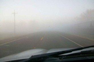Densos bancos de niebla reducen la visibilidad en rutas 12 y 14