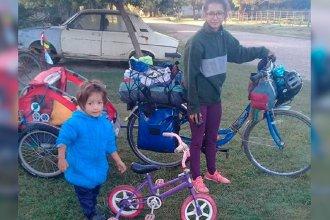 Madre e hijo iniciaron la travesía de recorrer Latinoamérica en bicicleta y estuvieron en Entre Ríos