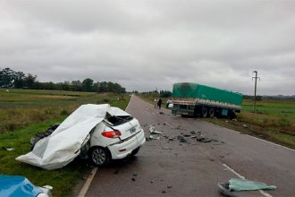 Fatal accidente en ruta entrerriana: un conductor falleció tras embestir un camión