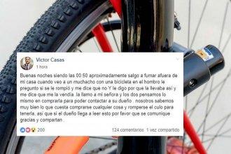 Compró una bicicleta robada, buscó a su dueña a través de las redes y se la devolvió