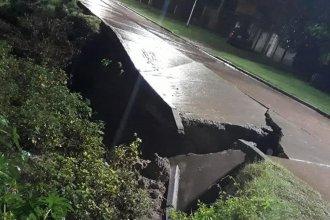 Desbarrancamientos en Santa Elena: impresionantes imágenes del colapso de una calle