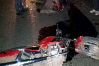Siguen los problemas en Concepción del Uruguay con la tracción a sangre: una moto chocó un carro