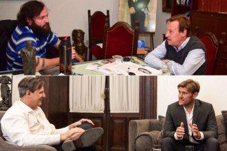 Las fotos de la recta final de la campaña: Varisco se mostró con Solanas y Bahl con Bértoli
