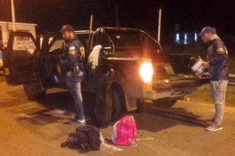 En un operativo montado sobre la autovía, cayeron tres sanjosesinos que transportaban droga