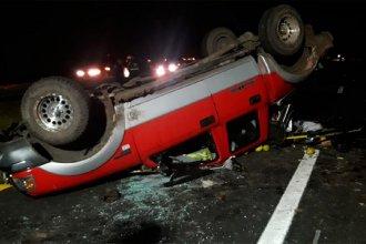 Violento accidente en ruta entrerriana: una camioneta volcó y fue embestida por otra
