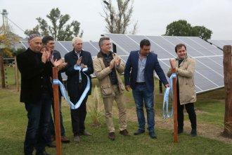 En presencia de funcionarios nacionales, tambo entrerriano inauguró sus paneles solares
