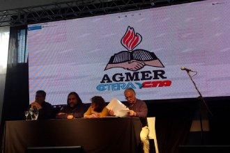 En el acto de apertura del Congreso Educativo de Agmer, estuvieron presentes Alesso, Baradel y Borón
