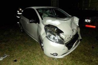 3 vehículos conducidos por entrerrianos, involucrados en un choque en el enlace Rosario - Victoria