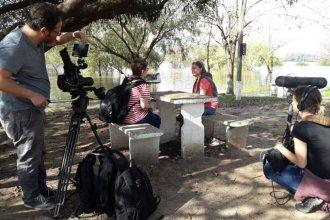 El rodaje de un documental sobre aureolas boreales de sol hizo escala en la costa del Uruguay
